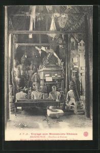 AK Angkor-Wat, Boudhas et Statues, Buddhafiguren