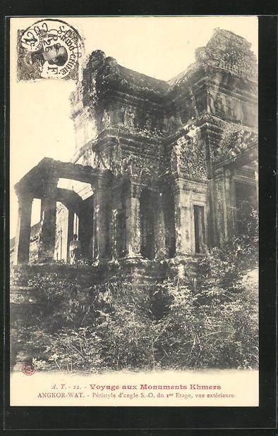 AK Angkor-Wat, Pérstyle d`angle S.-O. du Ier Étage... 0