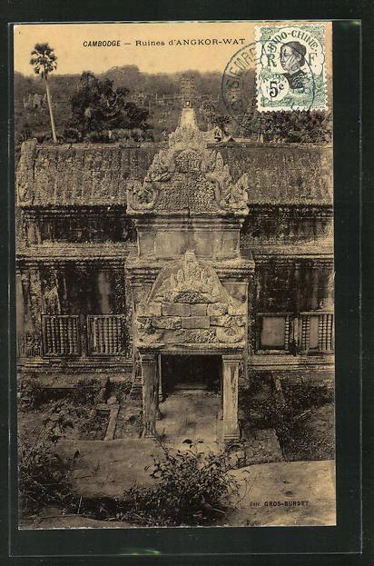 AK Angkor-Wat, historische Ruine 0