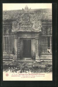 AK Angkor-Wat, Porte Nord du 2e Etage..., antikes Bauwerk
