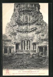 AK Angkor-Wat, Base de la tour centrale..., Turmbau