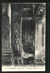 AK Angkor-Vat, Tevadas dans galleries du 3e étage, Reliefs