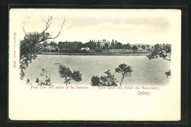 AK Sydney, Farm-Bucht und Palast des Gouverneurs 0