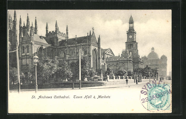 AK Sydney, St. Andrews Cathedral, Town Hall & Markets, Rathaus 0