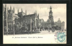 AK Sydney, St. Andrews Cathedral, Town Hall & Markets, Rathaus