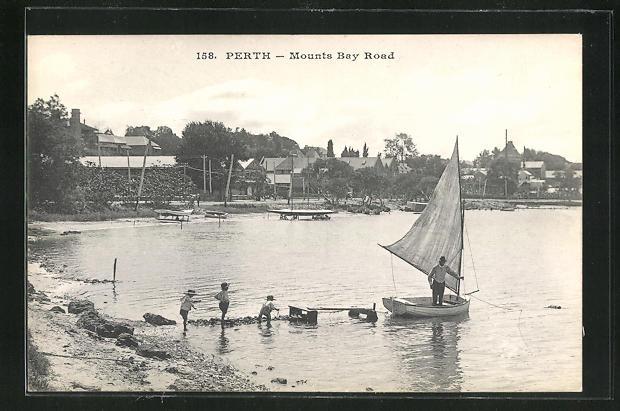 AK Perth, Mounts Bay Road, Panorama der Bucht 0
