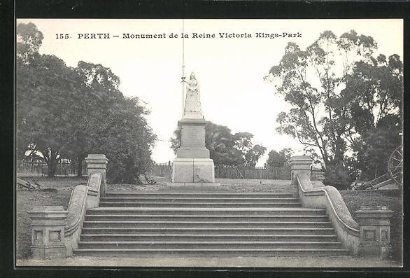 AK Perth, Monument de la Reine Victoria at Kings-Park, Denkmal 0