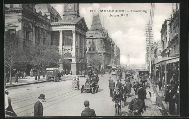 AK Melbourne, showing Town Hall 0