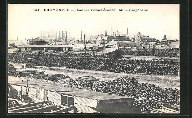 AK Fremantle, Boalder Perséverance, Mine Kalgoorlie, Holzlager und Industrieanlagen 0