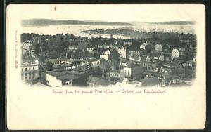 AK Sydney, gesehen vom Hauptpostamt