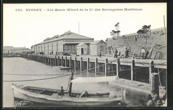 AK Sydney, Les Quais, Wharf de la Cie des Messageries Maritimes 0