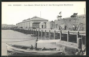 AK Sydney, Les Quais, Wharf de la Cie des Messageries Maritimes
