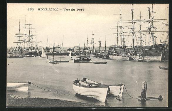AK Adélaide, Vue du Port, Segelschiffe im Hafen 0
