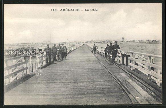 AK Adelaide, La jetée, Seebrücke 0