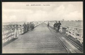 AK Adelaide, La jetée, Seebrücke