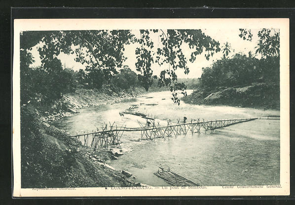 AK Luang-Prabang, Un pont de bambous 0