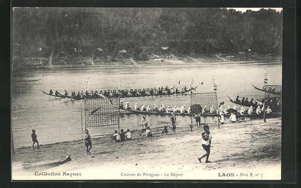AK Laos, Courses de Pirogues, Le Depart 0