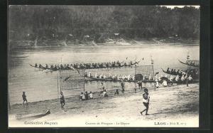 AK Laos, Courses de Pirogues, Le Depart