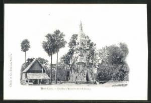 AK Laos, Haut-Laos, Un that, Monument religieux