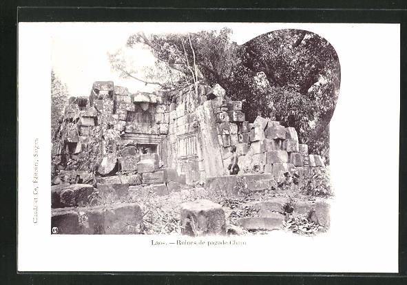 AK Laos, Ruines de pagode Cham 0