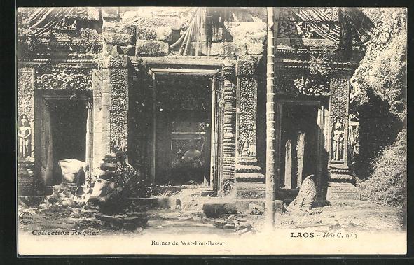 AK Laos, Ruines de Wat-Pou-Bassac 0