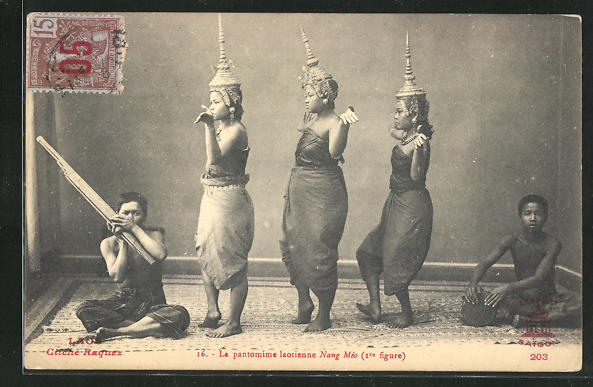 AK Laos, La pantomime laotienne Nang Méo 0