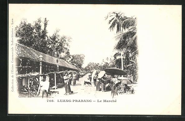 AK Luang-Prabang, Le Marché, auf dem Markt 0