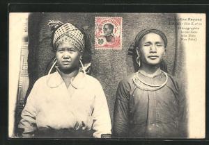 AK Laos, Ethnographie Jeunes Gens, Méos Noirs (HuaPahn)