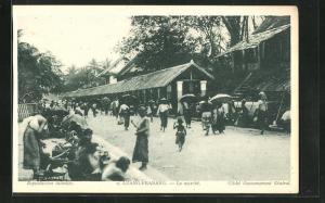 AK Luang-Prabang, Le Marché, auf dem Markt