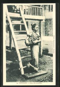 AK Vientiane, Jeune Fille laotienne, Laotisches Mädchen