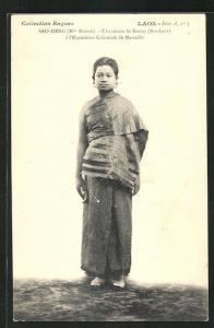 AK Sao-Deng, Chanteuse de Bassac à l`Exposition Coloniale de Marseille