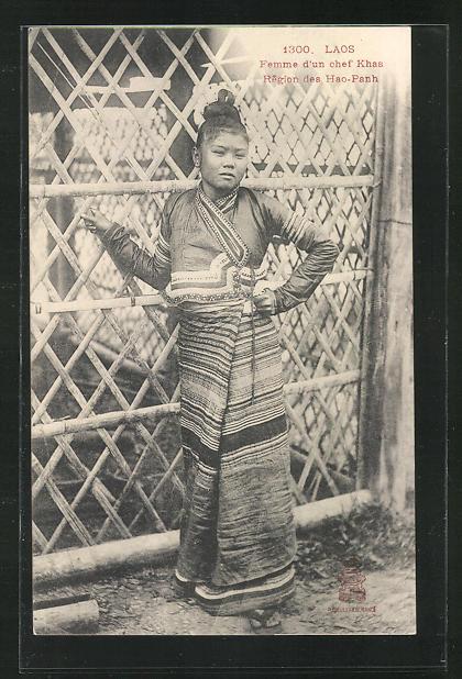 AK Laos, Femme d`un chef Khas, Région des Hao-Panh 0