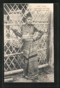 AK Laos, Femme d`un chef Khas, Région des Hao-Panh