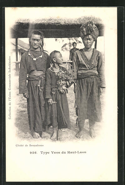 AK Laos, Type Yaos, Familie vom Stamm der Yaos 0