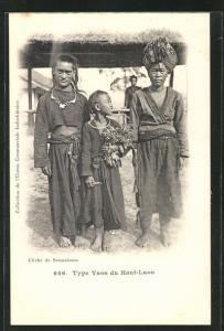 AK Laos, Type Yaos, Familie vom Stamm der Yaos