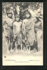 AK Laos, Khas Lovés (Région d`Attopeu), Kinder vom Stamm der Khas