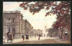 AK Colombo, General Post Office, Entrance to Queen`s House and Clock Tower