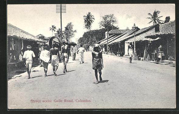 AK Colombo, Street scene Galle Road 0