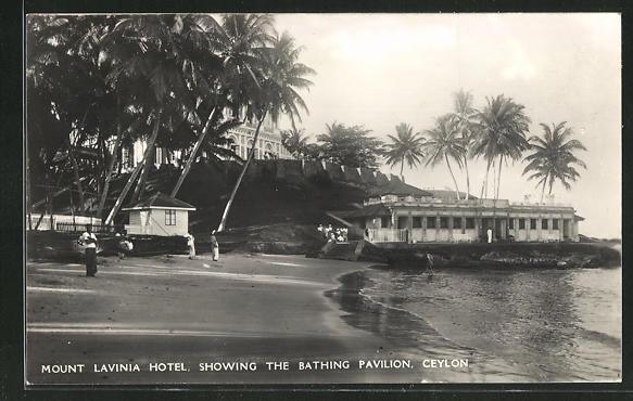 AK Mount Lavinia, Hotel Mount Lavinia showing the Bathing Pavillon 0