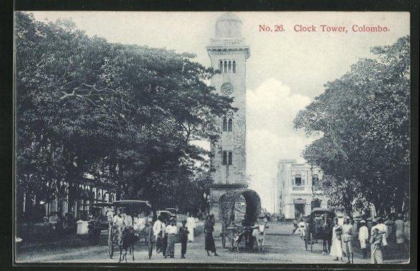 AK Colombo, Clock Tower und geschäftiges Treiben 0