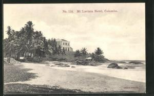 AK Mount Lavinia, Hotel Mount Lavinia, Blick vom Strand