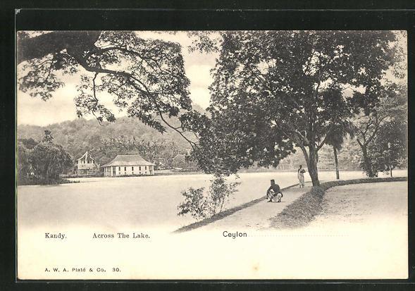 AK Kandy, Across the Lake, Uferpromenade an See 0