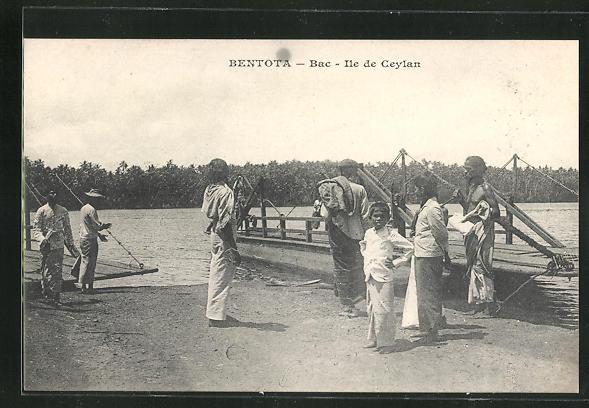 AK Bentota, Bac, Ile de Ceylan, Menschen an Ufer 0