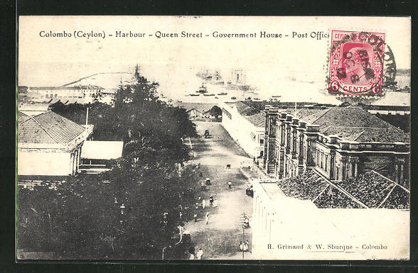AK Colombo, Harbour, Queen Street, Governement House, Post Office 0