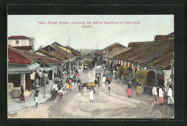 AK Colombo, Pettah, showing the Native Quarters of Commerce 0