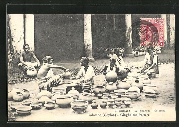 AK Colombo, Cinghalese Potters, Töpfer 0