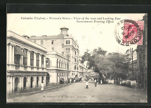 AK Colombo, Princes`s Street, View of the West End looking East, Government Printing Office 0