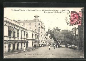 AK Colombo, Princes`s Street, View of the West End looking East, Government Printing Office