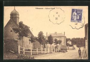 AK Villeperrot, Eglise et Mairie
