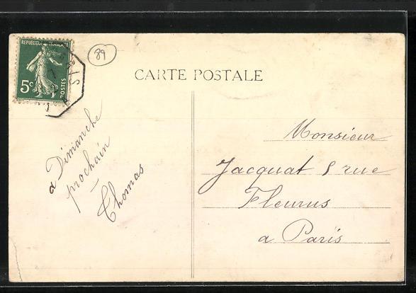 AK Villeblevin, La Fontaine et la Poste 1
